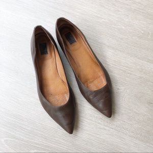 FRYE Sienna Pointed Toe Ballet Flats